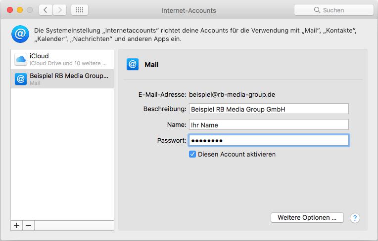 IMAP Einrichtung Apple Mail Step 5