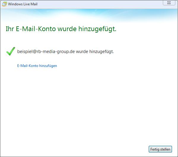 POP3 Einrichtung Microsoft Live Mail 2012 Step 3