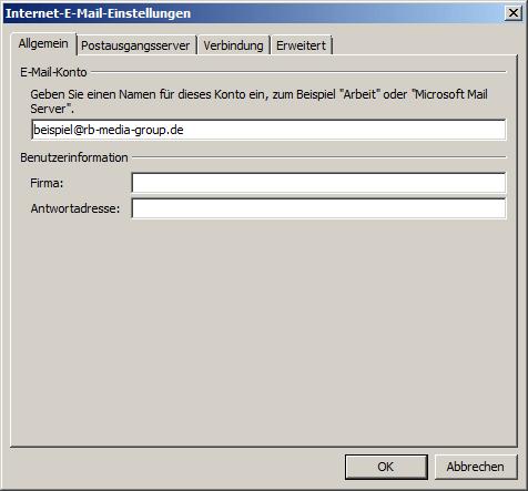 Microsoft Outlook 2007 POP3 Einrichtung Step 5