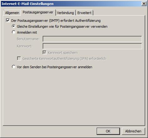 Microsoft Outlook 2007 POP3 Einrichtung Step 6