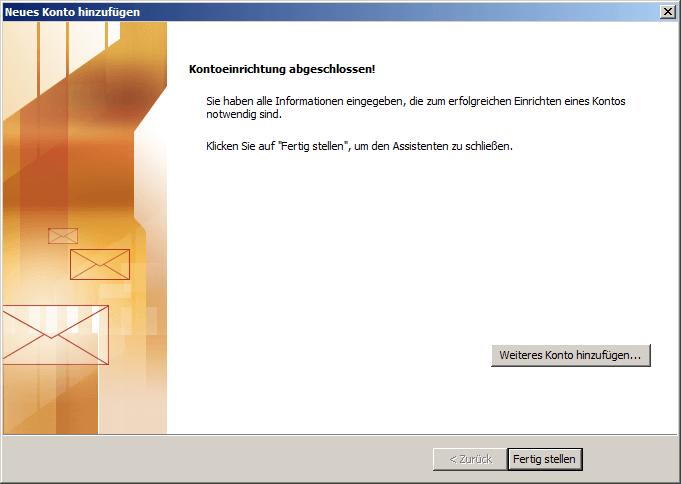 Microsoft Outlook 2010 IMAP Einrichtung Step 8