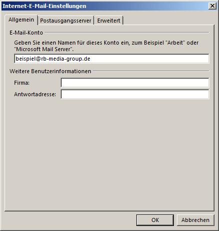 Microsoft Outlook 2016 IMAP Einrichtung Step 4