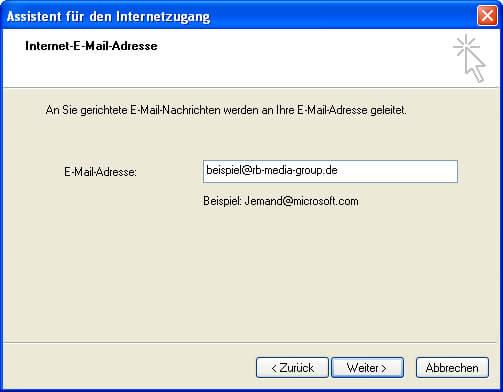 Einrichtung Outlook Express 6 Step 2