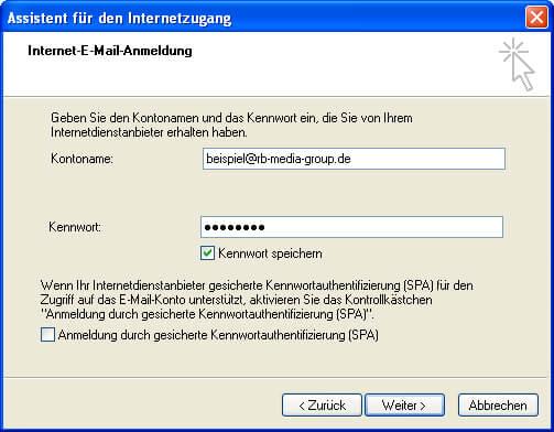 Einrichtung Outlook Express 6 Step 4