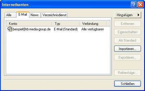 Einrichtung Outlook Express 6 Step 6