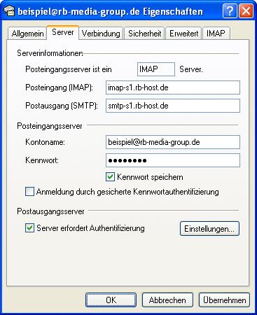 Einrichtung Outlook Express 6 Step 7 IMAP