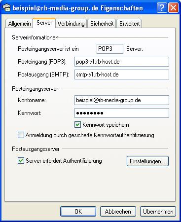 Einrichtung Outlook Express 6 Step 7 POP3