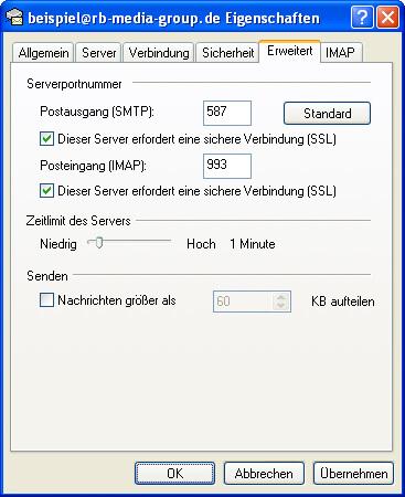 Einrichtung Outlook Express 6 Step 9 IMAP